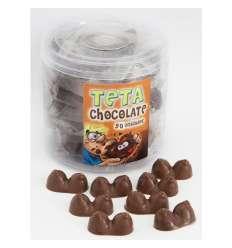 BOTE DE 50 TETAS DE CHOCOLATE CON LECHE MADE IS SPAIN