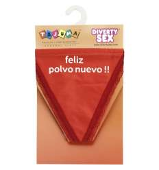 TANGA ROJO CHICA FELIZ POLVO sexshop online