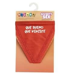 TANGA ROJO CHICA QUE BUENO QUE VINISTE sexshop online