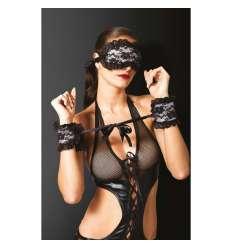 CONJUNTO BONDAJE 4 PIEZAS FLORAL sexshop online