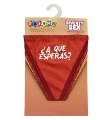 TANGA ROJO CHICA ¿A QUE ESPERAS? sexshop online