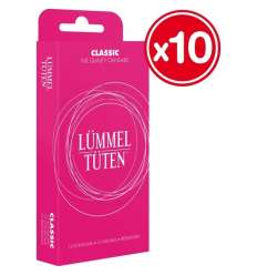 DISPLAY 10 CAJAS PRESERVATIVOS LUMMEL TUTEN CLASSIC sexshop online