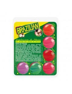 SECRET PLAY BRAZILIAN BALLS VARIADAS GEL INTIMO AROMA FRUTAS