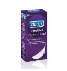 DUREX SENSITIVO CONTACTO TOTAL 12 UDS sexshop online