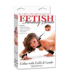 FETISH FANTASY COLLAR CON CORREA Y ESPOSAS sexshop online