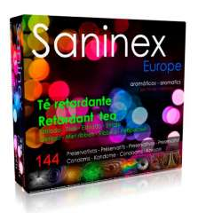 SANINEX PRESERVATIVOS TE RETARDANTE AROMATICO ESTRIADO 144 UDS sexshop online
