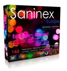 SANINEX PRESERVATIVOS ESTRIADO AROMATICO 144 UDS sexshop online