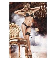 BACI TANGA DE ENCAJE CON BRILLO NEGRO sexshop online