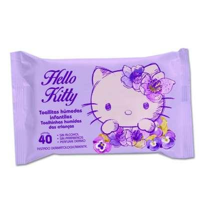 TOALLITAS INFANTILES 40UD HELLO KITTY